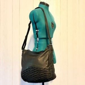 NWOT Anthro Day & Mood Black Leather Isa Hobo Bag